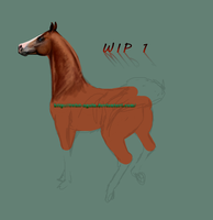 WIP 1 - Arabian horse by Twist-Again