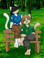 Yuriko and Akira's Day in the Park by Inspectornills