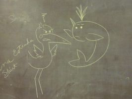 Weird Angry Bird + Narwhal by Hallu-Positronium