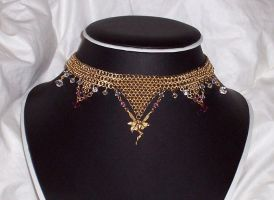 Chainmail Necklace G12 by DesireeMorte