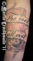 Root Of All Evil Tattoo by mxw8