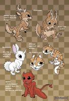 Some cute creatures by MySweetQueen