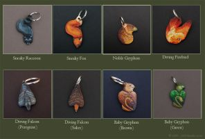 Leather Keychain Examples by windfalcon