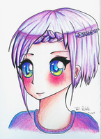 Purple Hair 3/4 by TaitRochelle