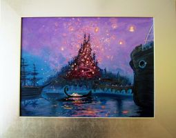 Rapunzel Lights - canvas by Arbetta