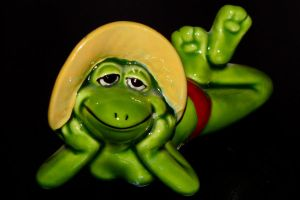 lazy frog by Dieffi