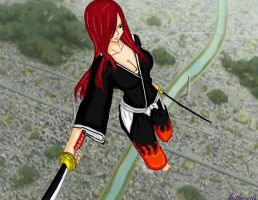 Erza the soul reaper by brittacurls