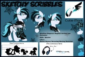 Sketchy ref Sheet by Sketchy-The-Pony