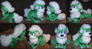 Green Growlithe commission