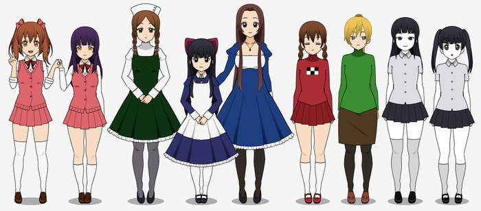 RPG Maker-Girls 2 by TheRainbowCupcake