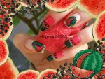 Watermelon Nails by elegance2255