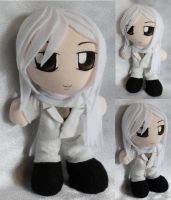 Art Trade, Mini Plushie Jushiro Ukitake, Suit by ThePlushieLady