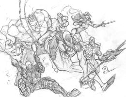Red vengeance pencils by JoeyVazquez