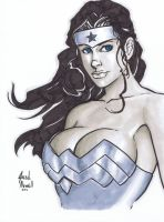 Wonder Woman con sketch by BanebrookStudios