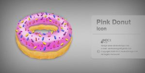 Pink Donut icon by AndexDesign