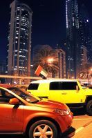 Sheikh Zayed road at night  new edition 7 by amirajuli