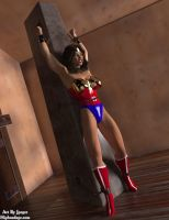 Wonder Woman in Chains by thejpeger