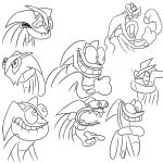 Greninja expressions (Ren and Stimpy style) by IGPHHangout