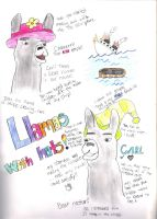Llamas With Hats by Thunderstruck190