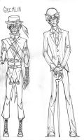 Role Reversals: Scarecrow and Riddler (WIP) by CarpalTunnelLuv