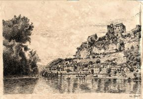 Beynac old paper by nicolasjolly