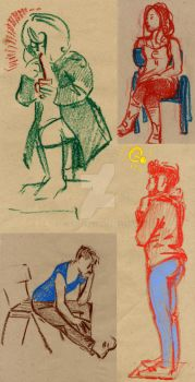 Studies with oil pastels No2 by Emil-H