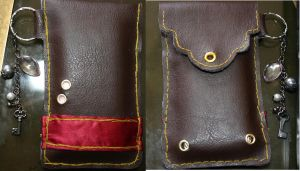 Leather Phone Case by Cassiopeia25