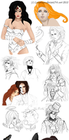 Some of my work in progress by LonyMoon