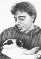 Portrait of my brother and bunny by X-Ty19