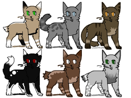 feline adoptables! :OPEN: by daunt-less