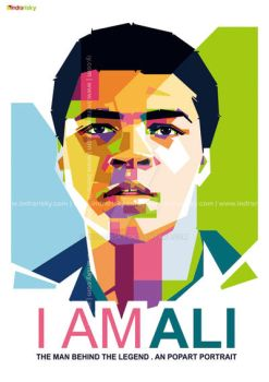 Muhammad Ali in WPAP by IndraRisky