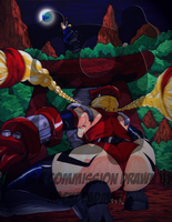 :Commission: Cammy x Hyabusa by RockDeadman