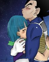 Vegeta And Bulma by xdeanaxxrawrx