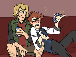 Buddy Night by cartoonjunkie