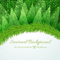Seasonal Merry Christmas Design Free Vector by vecree