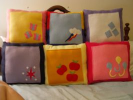 My Little Pony Pillow Group by nenfere