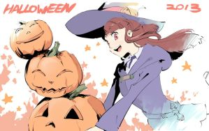 Halloween 2013 - Little Witch Academia- by lonerurouni187