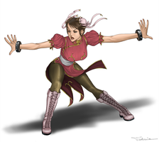 Chun Li    pink version by takemina