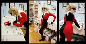 At the Comic Shop : Harley Quinn by Lossien