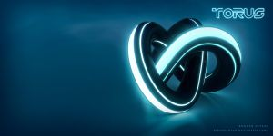 TRONified Torus Knot by blendedhead
