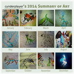 cynderplayer's 2014 Summary Of Art by cynderplayer