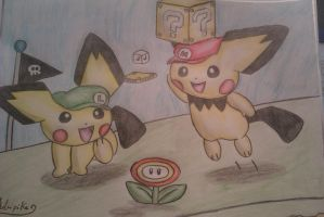 Super Pichu 3D Land by Adripika