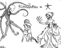 Slenderman VS. The Blair Witch by DoodleScout