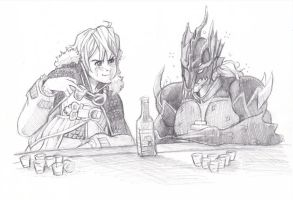Commission -- Drinking Contest by The-Z