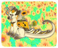 Retina burn sunflowers by Spacette