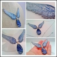 Castiel's Wings and Grace - Sodalite and Resin by NasuOni