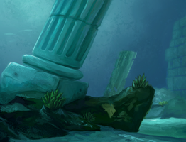 Speedpaint Study underwater pillar by charfade