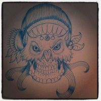 owl gypsy sugar skull by yayzus