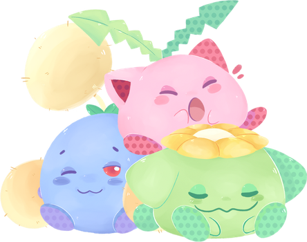 Grass Orb Family by MirmirArt