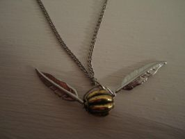 The Golden Snitch Necklace by WhisperingWindxx